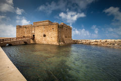 Late afternoon view of the Paphos Castle Stock Photos