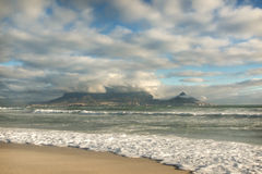 Late Afternoon view of Table Mountain, Cape Town, South Africa Stock Photos