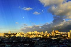 Late afternoon. Through a window in Sao Paulo royalty free stock photography