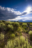 Late Afternoon on the Wyoming Prairie Royalty Free Stock Photography