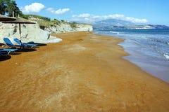 Late afternoon on xsi beach, Kefalonia,  Greece Stock Photo