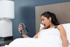 Late, alarm clock Stock Images