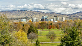 Late autumn above a park in Boise Idaho Royalty Free Stock Images