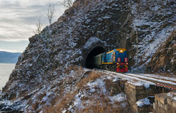 Late autumn. In the Circum-Baikal Railway stock photo