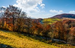 Late autumn countryside landscape Royalty Free Stock Photos