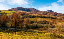 Late autumn countryside landscape Royalty Free Stock Images