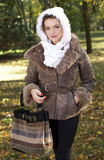 Late autumn dressed woman Royalty Free Stock Photos