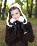 Late autumn girl portrait Stock Images