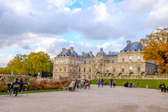 Late autumn in Jardin du Luxembourg, Paris, France. Royalty Free Stock Photography