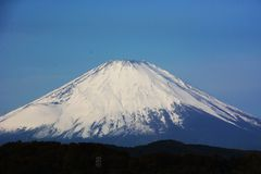 Late autumn of Mount Fuji. Background material/Late autumn of Mount Fuji stock photos