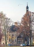 Late autumn in old city park, Dubulti, Jurmala, Latvia Royalty Free Stock Photography