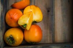 Late Autumn Orange Harvest Fruits and Vegetable Stock Image