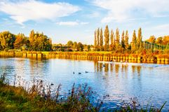 Late autumn scene in the Western Europe Royalty Free Stock Photos