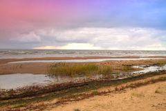 Late autumn at the sea Stock Photography