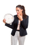 Late business woman Stock Images