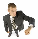 Late businessman. Surprice late businessman Stock Photos
