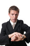 Late businessman Royalty Free Stock Photo