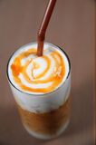 Late coffee with cream Royalty Free Stock Photo
