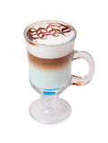 Late coffee in glass bowl stock images