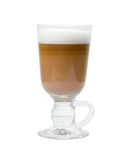 Late coffee in glass bowl  isolated Royalty Free Stock Photos