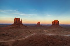 Monument Valley Sundown, Monument Valley, Arizona, USA royalty free stock images