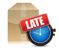 Late delivery box and watch illustration design Stock Photography