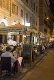 Late dining in Rome Royalty Free Stock Image