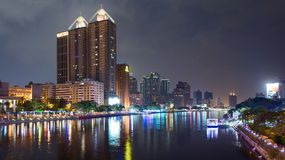 Late evening over Love River. The Love River or Ai River or DPP River is a river (canal) in southern Taiwan. Royalty Free Stock Photo