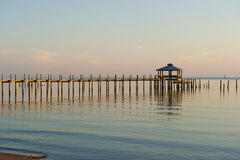 Late Evening Shot of Pier on Bay Stock Photography