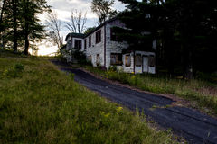 Late Evening View - Abandoned Resort in Catskill Mountains Royalty Free Stock Photos