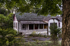 Late Evening View - Abandoned Resort in Catskill Mountains Royalty Free Stock Photography