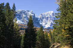Late fall in Dolomite Mountain Royalty Free Stock Photography
