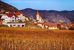 Late fall in Wachau valley Royalty Free Stock Images