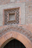 Late Gothic architecture in italy, vaulted door (1400). Stock Photo