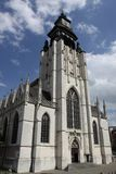 Late gothic church in Brussels Royalty Free Stock Image