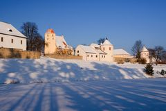 Late gothic Zumberk fortress Stock Images