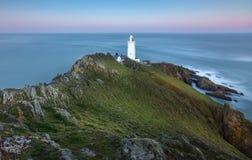 Late Light, Start Point Lighthouse, Devon stock images