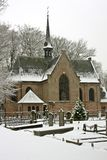 Late medieval church in wintertime the Netherlands Stock Images