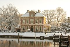 Late medieval house in Amsterdam Netherlands Stock Images