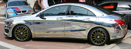 Late model chrome Mercedes Benz Stock Image