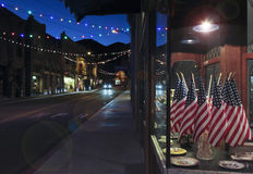 A Late Night in Bisbee During the Holidays Royalty Free Stock Image