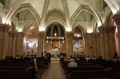 Late Night Church Service in Barcelona Spain. Photo of people attending a late night church service in barcelona spain on 9/19/18. This is under the sagrada stock photos