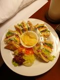 Late night meal from room service in a hotel stock images