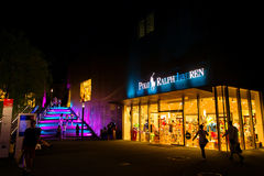Late Night Shopping 6. Late Night Shopping (3 July 2015) OutletCity Metzingen/Germany Royalty Free Stock Photos