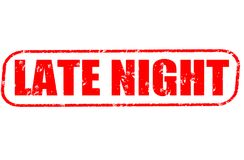 Late night stamp on white background. Late night stamp isolated on white background Royalty Free Stock Photo