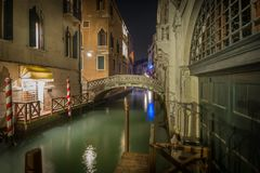 Late night in Venice stock photography
