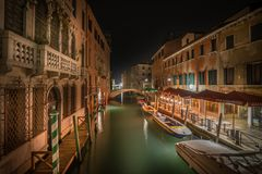 Late night in Venice royalty free stock photos