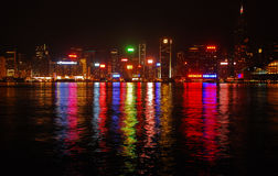 Late night view of Hong Kong Island Royalty Free Stock Image
