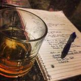 Late night writing Royalty Free Stock Image