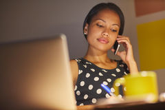 Late nights at work get the job done Royalty Free Stock Photography